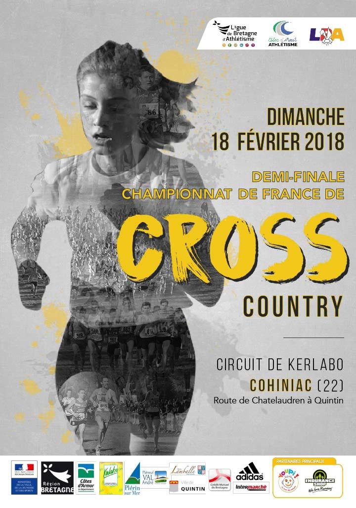 Demi-finale des Championnats de France de Cross 2018